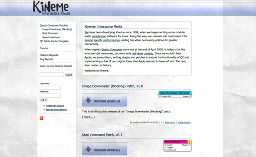 screenshot of kineme.net