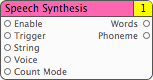 Speech Synthesis Patch, v0.2