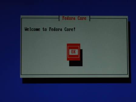 Fedora Core 6 Welcome Screen