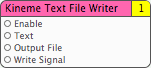 Text File Writer Patch